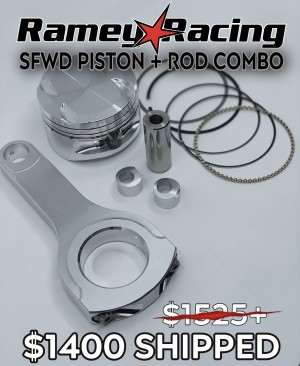 Black Friday - RameyRacing SFWD Pistons and Rod Combination