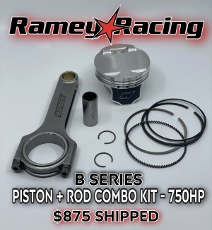 750 WHP B-Series Piston and Rod Combination